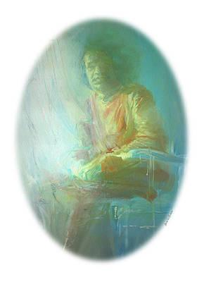 Baba Portrait Painting - portrait of Sathya Sai Baba by Helen Von Allmen