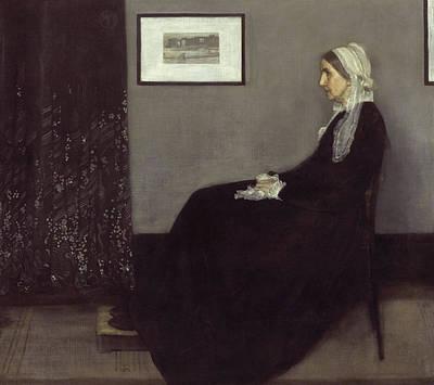 James Abbott Mcneill Whistler Painting - Portrait Of The Artist's Mother by James Abbott McNeill Whistler
