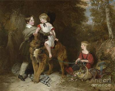 Landseer Painting - Portrait Of The Children by MotionAge Designs