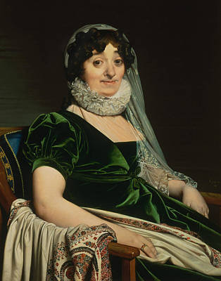 Ingres Painting - Portrait Of The Countess Of Tournon by Jean-Auguste-Dominique Ingres