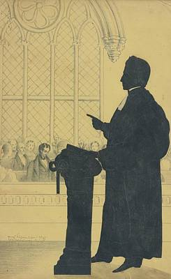 Portrait Painting - Portrait Of The Reverend by Auguste Edouart