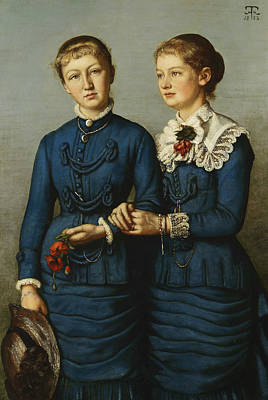 Painting - Portrait Of The Two Daughters Of The Haag Family by Treasury Classics Art