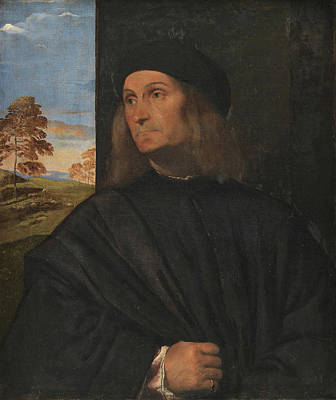 Renaissance Painting - Portrait Of The Venetian Painter Giovanni Bellini by Titian