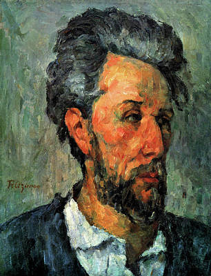 Cezanne Painting - Portrait Of Victor Chocquet by Paul Cezanne