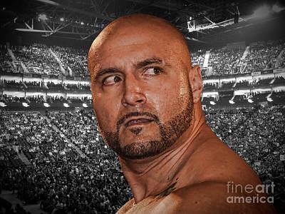 Championship Ring Digital Art - Portrait Of World Heavyweight Wrestling Champion J R Kratos by Jim Fitzpatrick