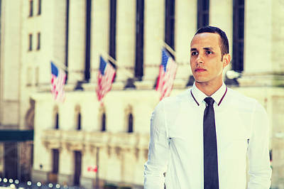 Photograph - Portrait Of Young American Businessman by Alexander Image