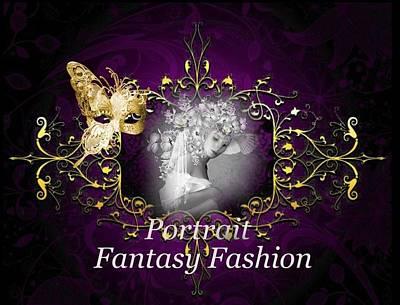 Digital Art - Portraits And Fantasy Fashion by Ali Oppy