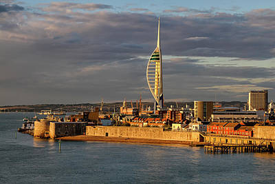 Photograph - Portsmouth Harbour England  by Shirley Mitchell