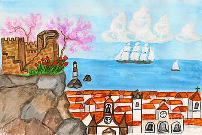 Painting - Portugal, Painting by Irina Afonskaya