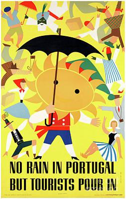 Portugal Vintage Travel Poster Restored Art Print by Carsten Reisinger