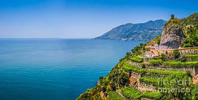 Italian Photograph - Postcard View Of Amalfi Coast by JR Photography