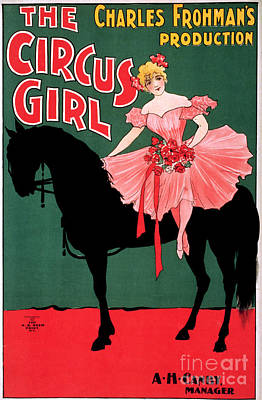 Drawing - Poster, The Circus Girl.  by Granger