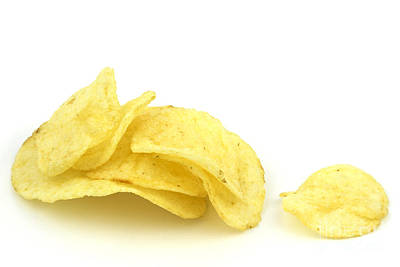 Potato Photograph - Potato Chips by Blink Images
