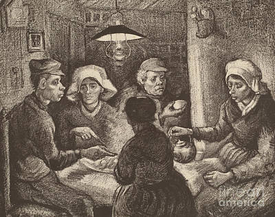 Potato Eaters, 1885 Art Print by Vincent Van Gogh