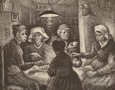 Potato Pastel - Potato Eaters, 1885 by Vincent Van Gogh