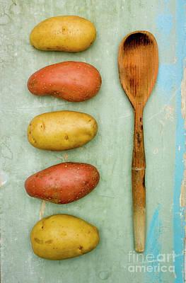 Wooden Spoon Photograph - Potatoes Variety by Bernard Jaubert