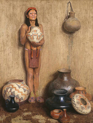 Southwest Indians Painting - Pottery Vendor by Eanger Irving Couse