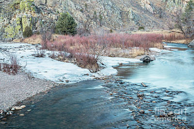 Photograph - Poudre River In Winter by Marek Uliasz