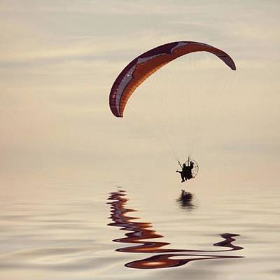 Wall Art - Photograph - Powered Paraglider by John Edwards