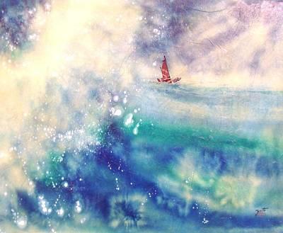 Powerful Sailing Art Print by John YATO