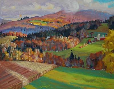 Painting - Pownel Vermont by Len Stomski