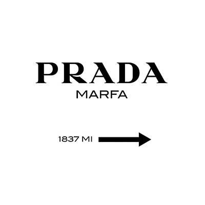 Abstract Digital Art - Prada Marfa by Tres Chic