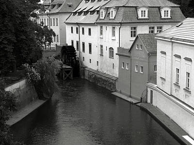 Photograph - Prague Canal Mill by C H Apperson