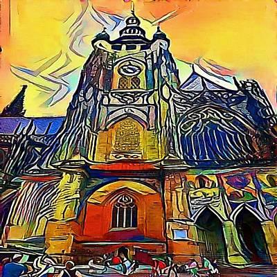 Praha Digital Art - Prague Church - My Www Vikinek-art.com by Viktor Lebeda