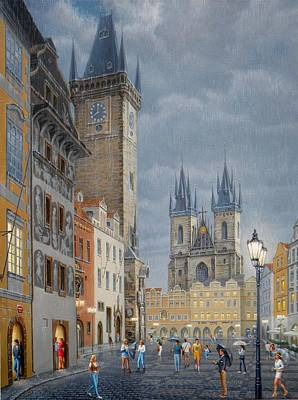 Prague.old Town Square Art Print
