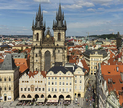 Photograph - Prague's Old Town Square by Josef Pittner