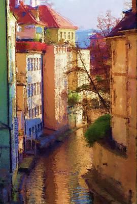 Praha Canal Art Print by Shawn Wallwork