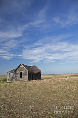 Photograph - Prairie Farmhouse by Jim West
