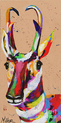 Painting - Prairie Pronghorn by Tracy Miller