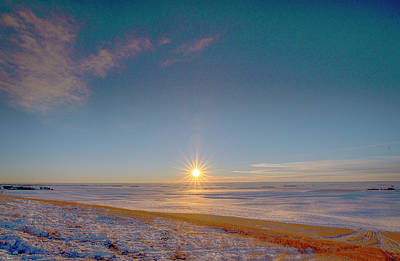 Photograph - Prairie Winter Sunset by Philip Rispin