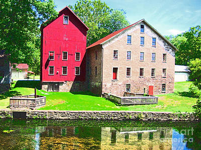 Prallsville Mill Art Print by Addie Hocynec