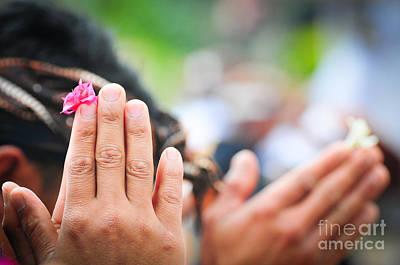 Jawa Photograph - Hands Of Prayer by Danu Primanto
