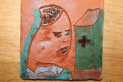 Ceramic Art - Prayer 37 - Tile by Gloria Ssali