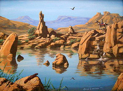 Praying Rock Art Print by David  Larcom