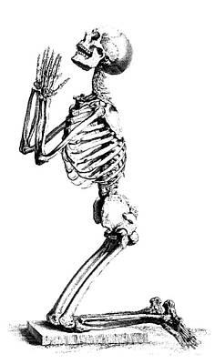 Praying Skeleton Art Print