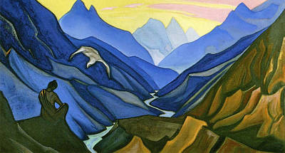 Russian Painting - Precept Of The Teacher by Nicholas Roerich