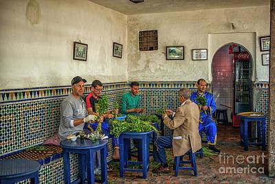 Rabat Photograph - Preparing Mintleaves For Tea by Patricia Hofmeester