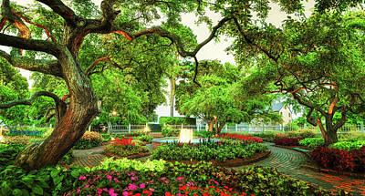 Prescott Park - Formal Gardens Art Print