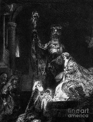 Bible Drawing - Presentation In The Temple by Rembrandt