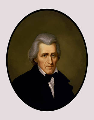 War 1812 Painting - President Andrew Jackson by War Is Hell Store