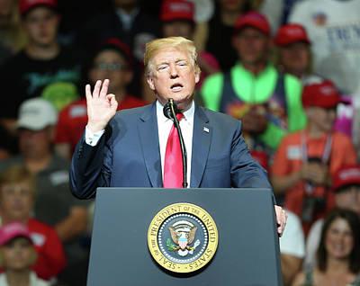 Photograph - President Donald J. Trump by Jerome Lynch