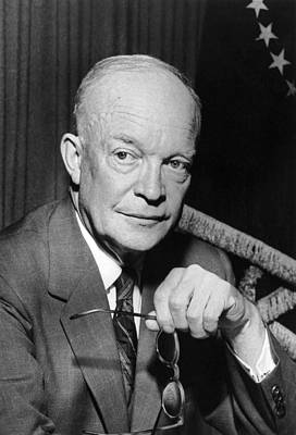 Dwight Photograph - President Dwight D. Eisenhower by Underwood Archives
