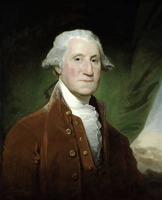 Continental Army Painting - President George Washington  by War Is Hell Store