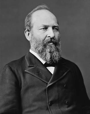 Historian Photograph - President James Garfield by War Is Hell Store