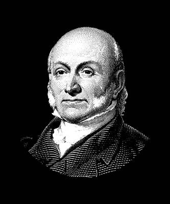 President Adams Mixed Media - President John Quincy Adams by War Is Hell Store