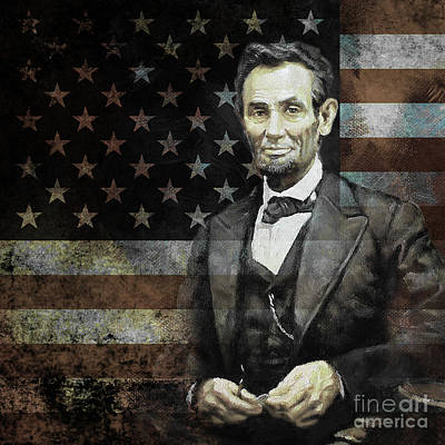 Painting - President Lincoln  by Gull G